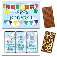 "DA CHOCOLATE キャンディーお土産HAPPY BIRTHDAYチョコレートセット1箱7.2x5.2 ""3オンス各チョコレート4x2"" (MILK Orange Cedar Mint)"