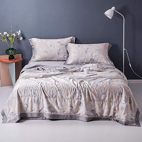 Sommerdecke Bettdecke, Gewaschene Seide Lyocell Sommer Quilt Einzel Doppel Sommer Quilt Antiallergische Klimaanlage Quilt-F23_200 * 230 m