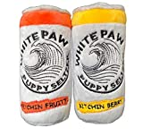 Two Pack Plush Squeaky Dog Toys Funny Drink Parody Squeaker