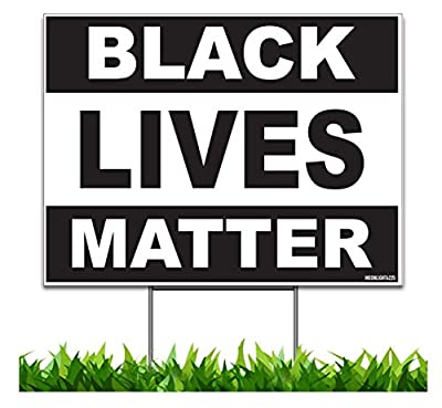 Moonlight4225 Black Lives Matter, v2 18x24-inch One Sided Yard Sign (Outdoor, Weatherproof Corrugated Plastic) Metal H-Stake Included