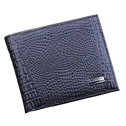 ITCHIC Portafoglio in tessuto uomo in puro colore casual con portamonete Portafoglio semplice in pelle con porta carte di moda