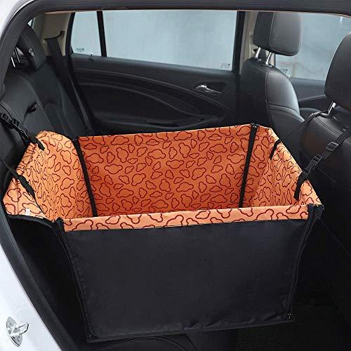 MAILESPET Protector de tapicería para Perros Universal Alfombra de Asiento Coche Mascota Cajones para Coche para Perros Naranja