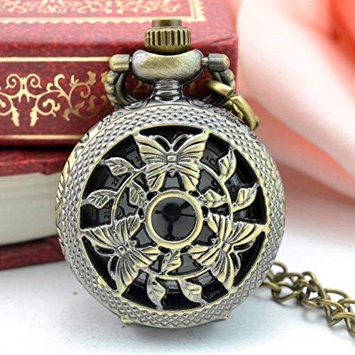 Reloj de bolsillo con cadena vintage, estilo nostálgico, números romanos de vapor, punk, retro, bronce, diseño de madre de perla para hombre, regalo retro punk JoinBuy.R