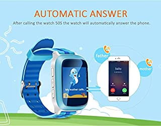Hangang GPSトラッカー子供セーフSmart Watch SOSコール場所Finderロケータトラッカーの子アンチ失われたモニターBaby Son腕時計