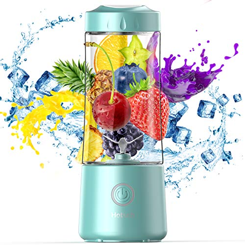 Hotsch Portable Blender, Personal Size Blender Juicer Cup for Juice Crushed Ice Smoothies and Shakes, 4000mAh USB Rechargeable with Six Blades Blender for Sports, Office, Travel, Gym and Outdoors