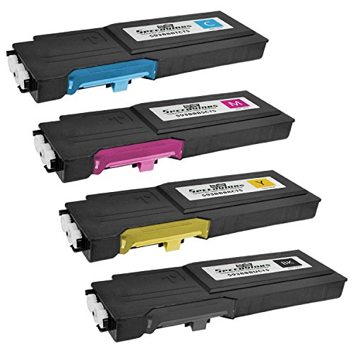 Speedy Inks Compatible Toner Cartridge Replacement for Dell C2660 High-Yield (1 Black, 1 Cyan, 1 Magenta, 1 Yellow, 4-Pack)