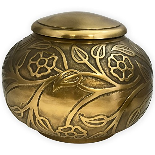 Beautiful Life Urns Florence Antiqued Brass Adult Urn