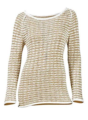 Heine - Best Connections Damen-Pullover Bändchengarn-Pullover Mehrfarbig Größe 36