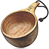 Dursten Lore 12oz Kuksa | Handcrafted Traditional Wooden Camp Cup | Lightweight & Eco-Friendly | Camping, Backpacking or Bushcraft
