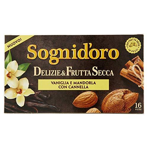 Sogni Doro Tisana Deliziefrutta Secca Vaniglia, Mandorla e Cannella 16 Fl - 40 Gr