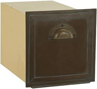Salsbury Industries 4440, Recessed Mounted Antique Brass Column Mailbox,