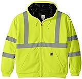 Carhartt Men's High Visibility Class 3 Thermal Sweatshirt,Brite Lime,Medium