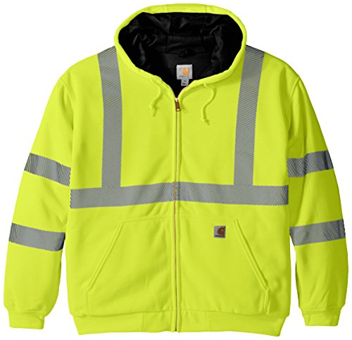 Carhartt Men's High Visibility Class 3 Thermal Sweatshirt,Brite Lime,Large