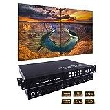 Sisthirth Pro AV Seamless Series 4X4 HDMI Matrix Switch HDMI Matrix Selector Switcher with Four Multiviewer 2 X 2 Video Wall Controller (2x2 Video Wall& Seamless Matrix)