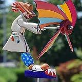 Molino de viento payaso personalidad interior y exterior artesanía