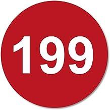 Huisnummerbordje Rood rond   15 cm