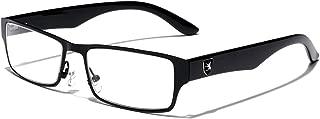 Non-Prescription Rectangular Horn Rimmed Clear Lens Fashion Eye Glasses for Men Women