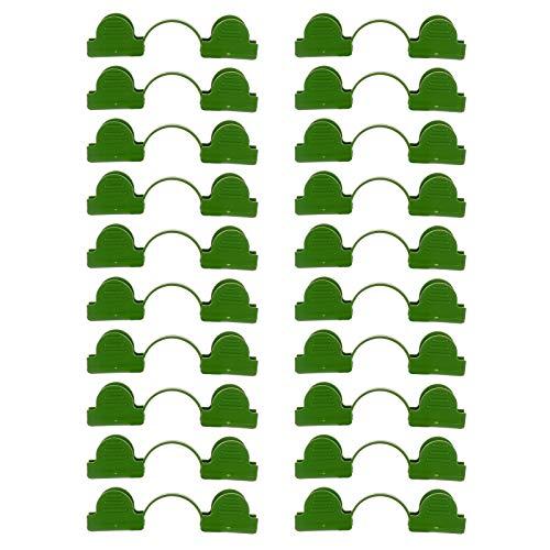Wyi Kunststoff-Clips für Gewächshaus, bunt, 60 Stück