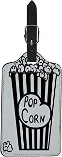 Tinmun Luggage Tag Corn Popcorn Exploding Inside the Packaging Blue Pop Box Suitcase Baggage Label Travel Tag Labels