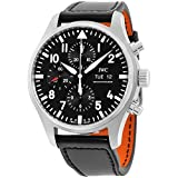 IWC Pilot Black Automatic Chronograph Mens Watch IW377709 by IWC