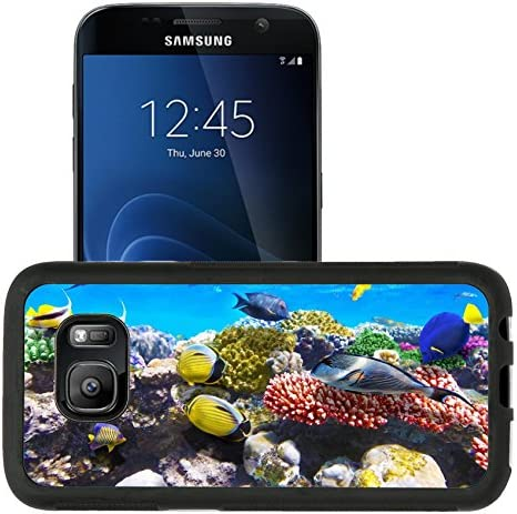 Liili Premium Samsung Galaxy S7 Aluminum Snap Case Coral and fish in the Red Sea Egypt IMAGE product image