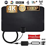 TV Aerial, Indoor TV Antenna with Signal Amplifier to Digital STB, 120 Mile Range with 4K 1080P HD VHF UHF...