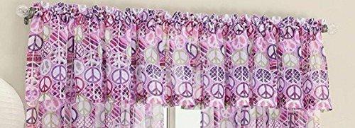 "18"" Peace Voile Window Valance - Pink/Multi"