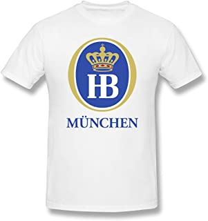 Hofbrau Munich Oktoberfest Men's Crew Short Sleeve Cotton T-Shirts Casual Summer