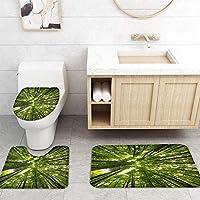 ZGDPBYF 浴室用アップホームバスマットグリーンツリーフォレストナチュラルプリントバスマットシャワーフロア用カーペットバスタブマット