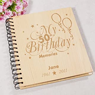 GiftsForYouNow 50th Birthday Memories Photo Album, Holds 72 4x6 Photos