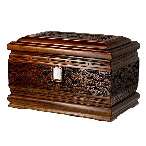 LXYLXY Protect The Life Box Urns for Human Ashes Adult, Cremation Urns for Wooden Box Funeral Urn Burial Urns for Ashes (Camphor Wood, 400 Cubic Inches) Funeral Supplies
