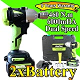 "18V Cordless 6000mAh li-ion Impact Anglel Imapct Wrench 1/2"" Drive Dual speed Automatic"