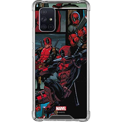 Skinit Clear Phone Case Compatible with Galaxy A71 5G - Officially Licensed Marvel Deadpool Comic Design