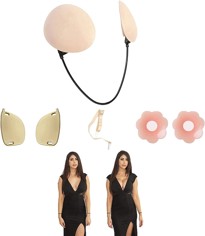 Verano Push Up Sujetador-Push Up Frontless Bra Kit, Strapless Backless Seamless Adjustable Bra, Reusable Bra (Color)