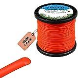 SWAWIS Hilo Desbrozadora 1,6 mm x 200M Hilo de Corte Hilo de Nylon de Cortacésped Redonda Naranja para Jardin Hierba