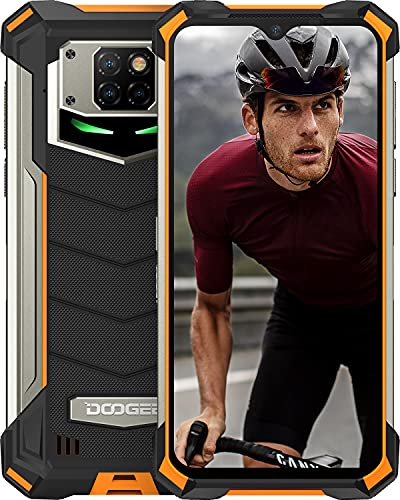 DOOGEE S88 Plus (2021) 10000mAh Smartphone Robusto, 4G Cellulare 8GB + 128GB, Fotocamera 48MP + 16MP, Helio P70 6.3 FHD Smartphone Android 10.0, IP68   IP69K Impermeabile, NFC Wireless Charge, Arancia