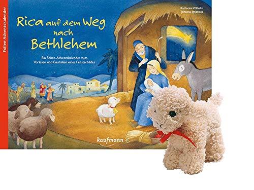 Rica auf dem Weg nach Bethlehem - mit Stoffschaf: Ein Folien-Adventskalender zum Vorlesen und Gestalten eines Fensterbildes (Adventskalender mit ... Kinder: Ein Buch zum Vorlesen und Basteln)