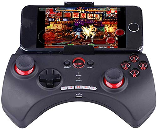 ZGYQGOO Manette Jeu Manette sans Fil, Manette Jeu Bluetooth sans Fil, compatibilité pour Android et iOS, Autres Cubes Jeu pour téléphone, combiné Chargement USB, Manette Jeu sans Fil 2,4 G, Rouge