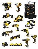 DeWALT Kit DWK1200 (DCD796 + DCH273 + DCG405 + DCF887 + DCF894 + DCS331 + DCS391 + DCS355 + DCP580 + DCS369 + DCL050 + DCF620 + 3 Batterie 5,0 Ah + Caricabatterie + Caddy 3en1)
