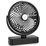 7-Inch Desk Fan, USB Operated Desktop Fan With 3 Speeds, Hanging Hook, LED Lantern, Table Cooling Fan for Home Office and More