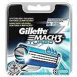 Gillette Mach 3Turbo remplacement de rasoir de rasage pour homme–Lot de 8