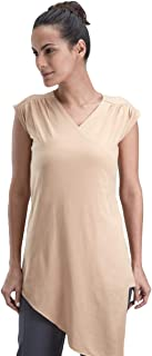 Proyog Cotton V Neck Wrap Top For Women