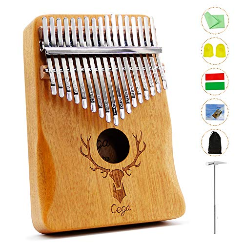 Thumb Piano Kalimba 17 Key with Study Instruction And Tune Hammer Portable Musical Instruments Gifts for Adult Kids And Beginners (Elk antlers)