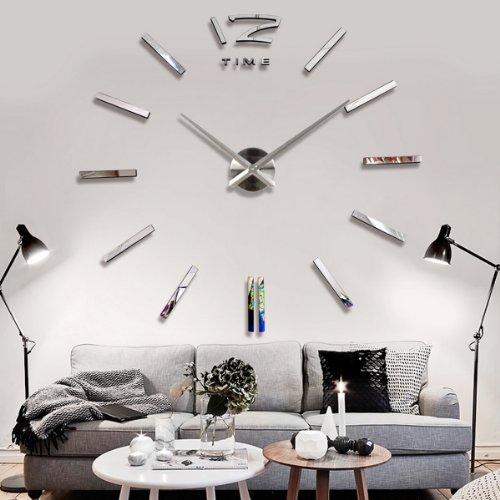 YESURPRISE Wanduhr Riesige Spiegel Wanduhr Vinyl DIY Ø 130cm Große XXL Design Uhr #2
