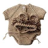 PRENKIN Cartoon-Löwe-Art-Breathable Strickwolle Hut Kleidung Anzug Neugeborene Fotografie Outfits...