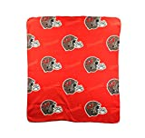 NFL Tampa Bay Buccaneers Repeated Logo Fleece Throw, 50-inch by 60-inch