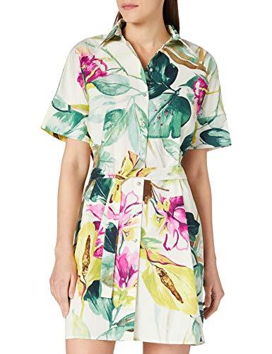 Desigual Vest_Kodiak Vestido Casual, Verde, S para Mujer