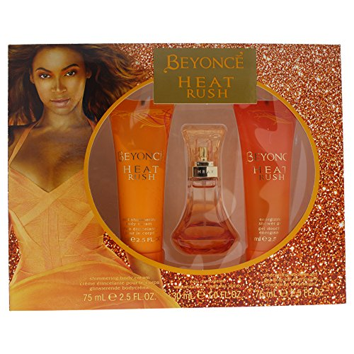 Beyonce Heat Rush 3 PC - 1.0 oz Eau de Parfum, 2.5 oz Shower Gel, 2.5 oz Body Lotion