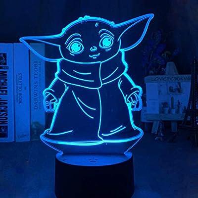 Amazon - 70% Off on 3D Illusion Night Light, 16 Color Change Decor Bedside Lamp Cool Unique