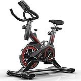 HARMON Professionelles Indoor-Radfahren mit Armstütze, verchromtes 8-kg-Schwungrad, Pulsgurt kompatibel, Speedbike, Ergometer bis zu 150 kg, schwarz